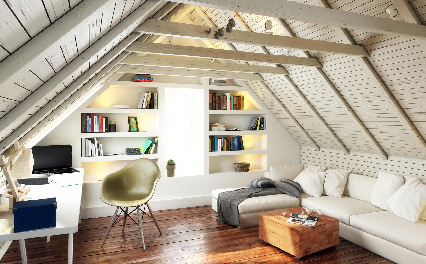 Appartement meublé sous charpente moderne