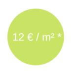 tarif 12 euros par m²