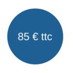 Etiquette 85 euros ttc